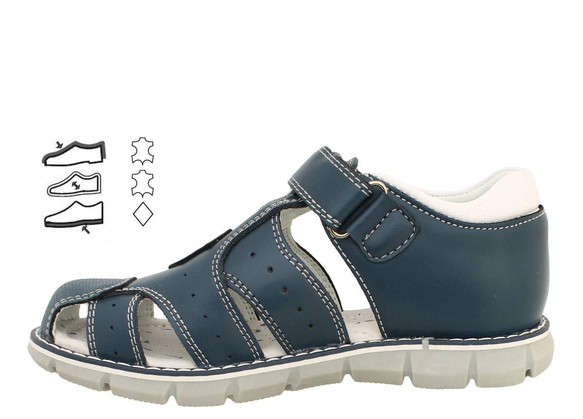 9c019faf5 Купить Детские кожаные босоножки на мальчика закрытый носок 31-38 с оплатой  и доставкой по всей Украине Вы можете в магазине Киндер Стар